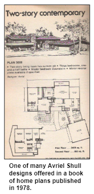One of many Avriel Shull designs offered in a book of home plans published in 1978.