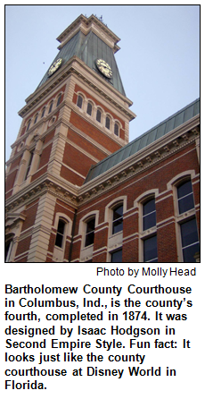 Bartholomew County Courthouse in Columbus, Ind. Photo by Molly Head.