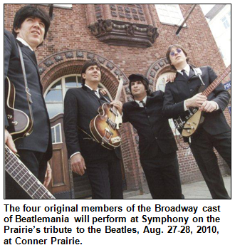The four original members of the Broadway cast of Beatlemania.