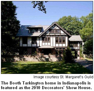The Booth Tarkington home in Indianapolis is featured in the 2010 Decorators' Show House. Image courtesy St. Margaret's Guild.