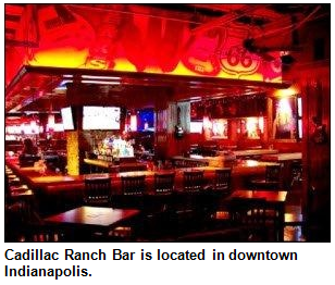 Cadillac Ranch Bar in downtown Indianapolis.