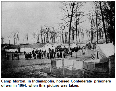 Camp Morton, Indianapolis, in 1864.