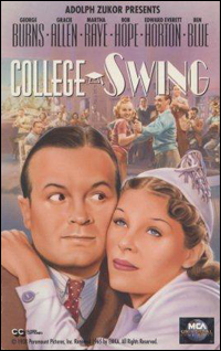 College Swing movie poster with Bob Hope.