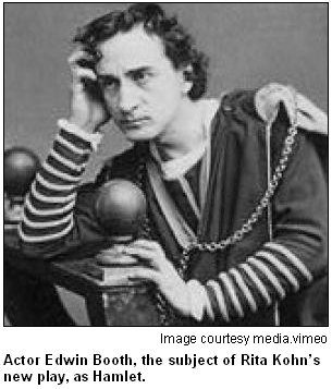Actor Edwin Booth, as Hamlet. Image courtesy media.vimeo.