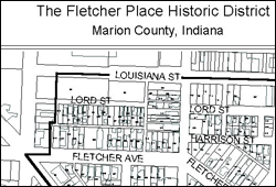 Map of Fletcher Place neighborhood. Click to view larger image.