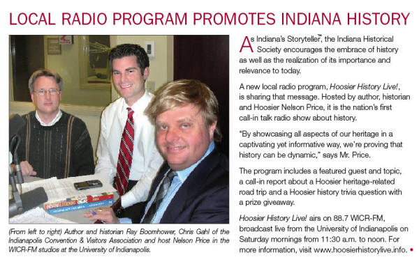 Image of article from the July/August 2008 issue of INPerspective, the member newsletter of the Indiana Historical Society.