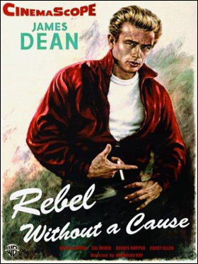 James Dean movie poster - Rebel Without a Cause.