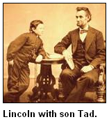 Abraham Lincoln with son Tad.