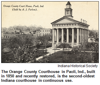 The Orange County courthouse. Image courtesy Indiana Historical Society.