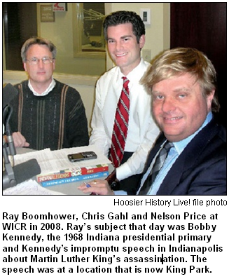 Ray Boomhower, Chris Gahl and Nelson Price at WICR in 2008.