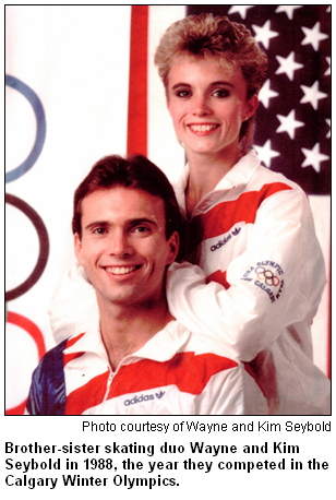 Wayne and Kim Seybold, Olympic ice skaters, in 1988.