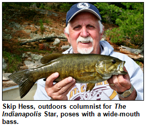 Skip Hess with wide-mouth bass.