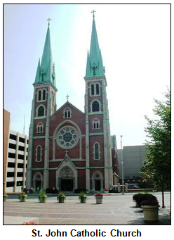 St. John Church in downtown Indianapolis.