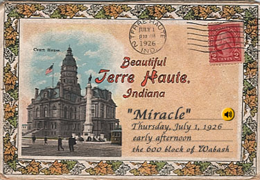 """Beautiful Terre Haute"" vintage postcard."