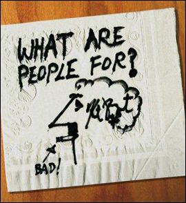 Napkin drawing by Kurt Vonnegut.