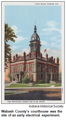 Wabash County's courthouse. Image courtesy Indiana Historical Society.