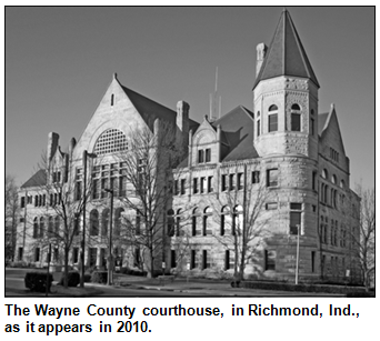 The Wayne County courthouse, in Richmond, Ind.