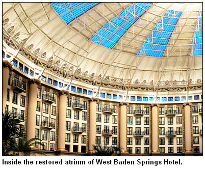 Atrium of the West Baden Springs Hotel.