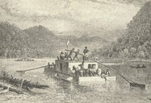 Drawing of a riverboat.