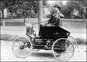 This Hoosier inventor is credited with creating one of the first gasoline-powered cars in America.