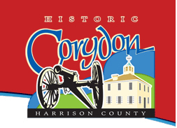 Logo for historic Corydon, Indiana.
