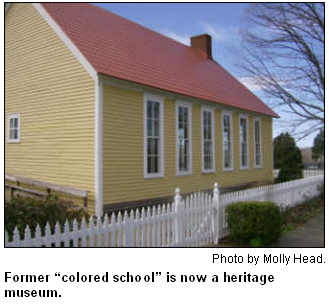 "Former ""colored school"" is now a heritage museum."