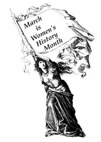 Image: March is Women's History Month.